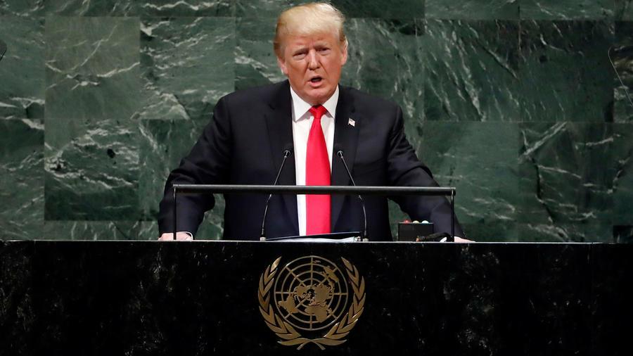 El presidente de EEUU, Donald Trump, da discurso en la Asamblea General de la ONU en Nueva York hoy