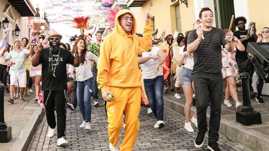 Bad Bunny con Jimmy Fallon en Puerto Rico