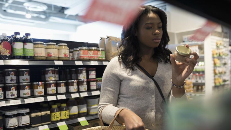 Alimentos en el supermercado