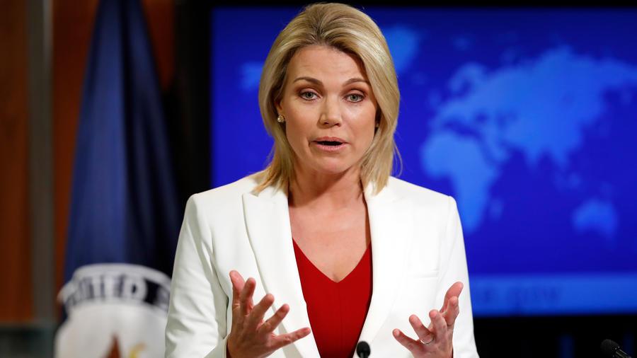 Heather Nauert, portavoz del departamemnto de Estado de EEUU y nominada por Trump para el puesto de embajadora de EEUU ante la ONU