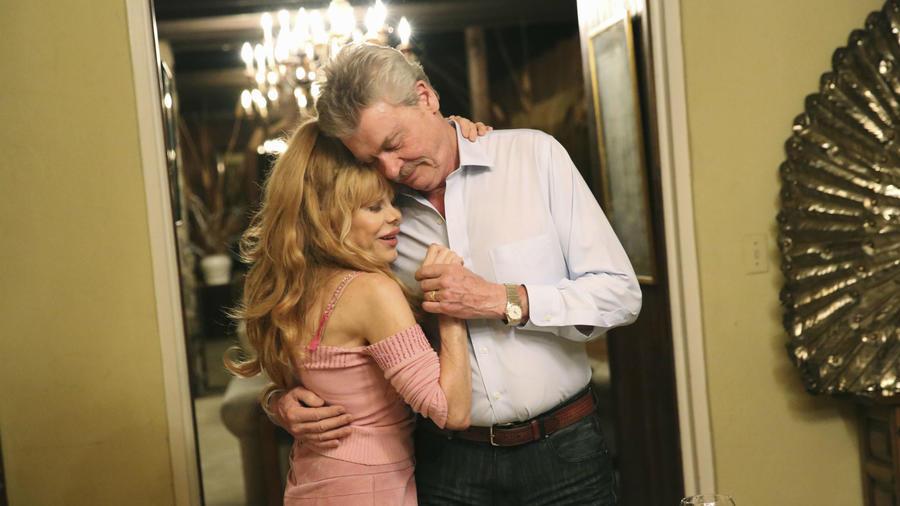 """Charo con su esposo Kjell Rasten en """"Celebrity Wife Swap"""""""