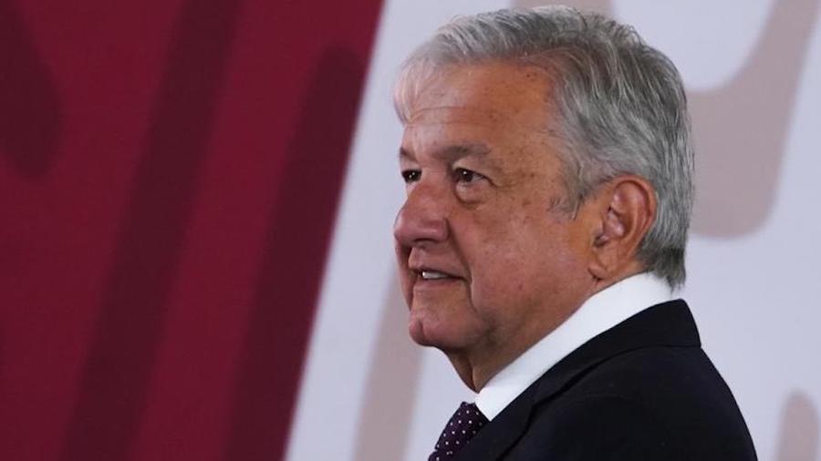 El Presidente Andrés Manuel López Obrador durante su conferencia del 6 de marzo
