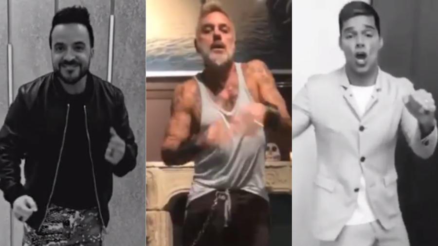 Luis Fonsi, Gianluca Vacchi, Ricky Martin