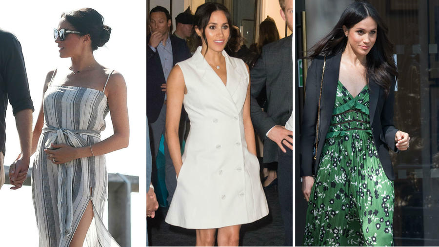 Meghan Markle luciendo outfits primaverales