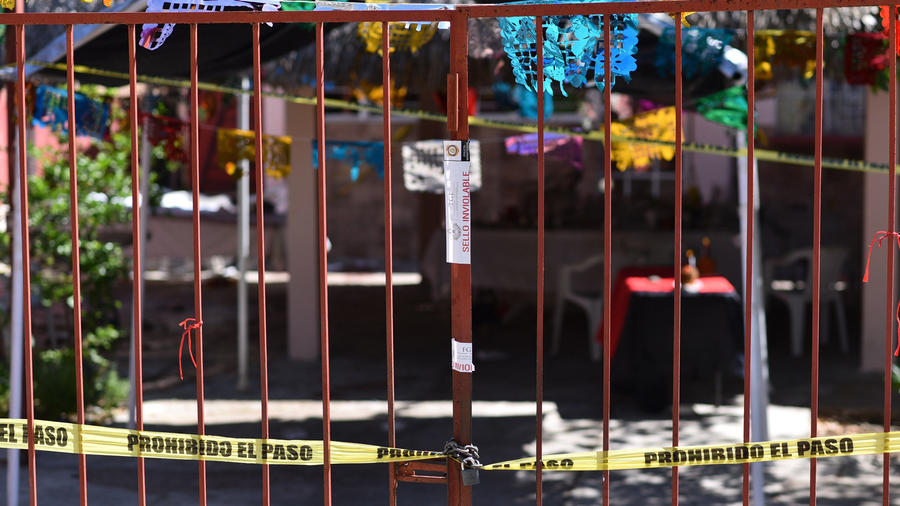 Local donde se produjo la matanza en Veracruz