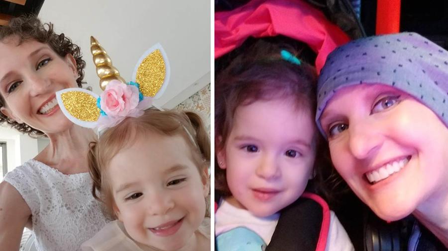 Tonya Ferguson-Chams y su hija Sophie.