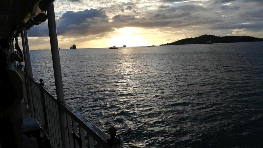 Imagen de la zona donde naufragó la embarcaciópn en la que más de una veintena de venezolanos huían de su país para ir a Trinidad y Tobago