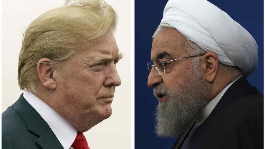El presidente de Estados Unidos, Donald Trump (izquierda) y el presidente de Irán, Hasán Ruhani (derecha).