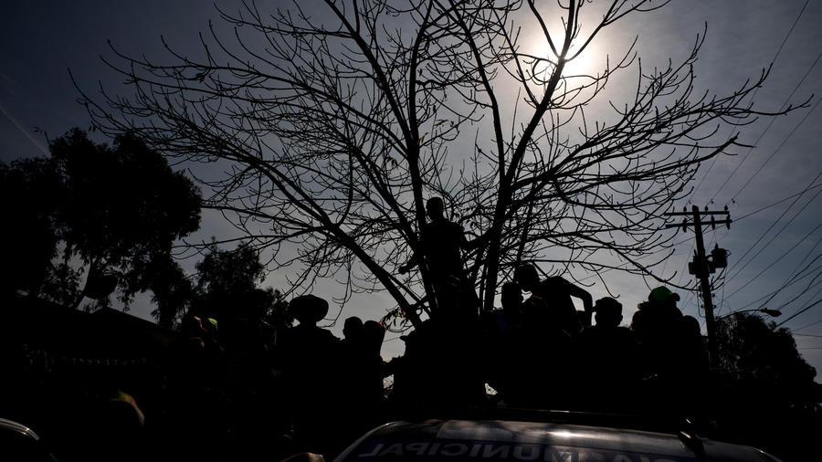 Migrantes de caravana en México en una imagen de archivo