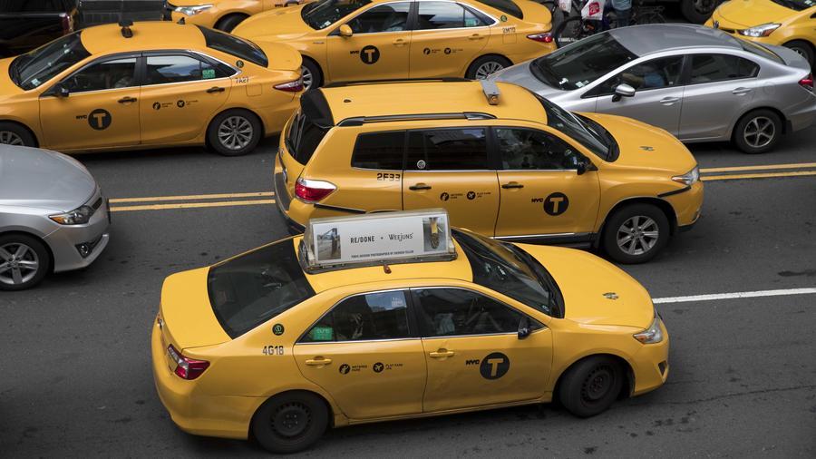 Foto de taxis en New York en agosto de 2018
