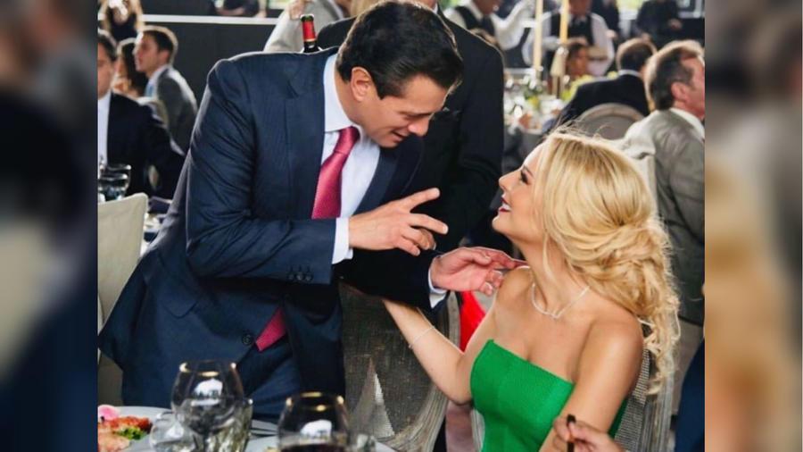 Tania Ruiz y Enrique Peña Nieto en 2019