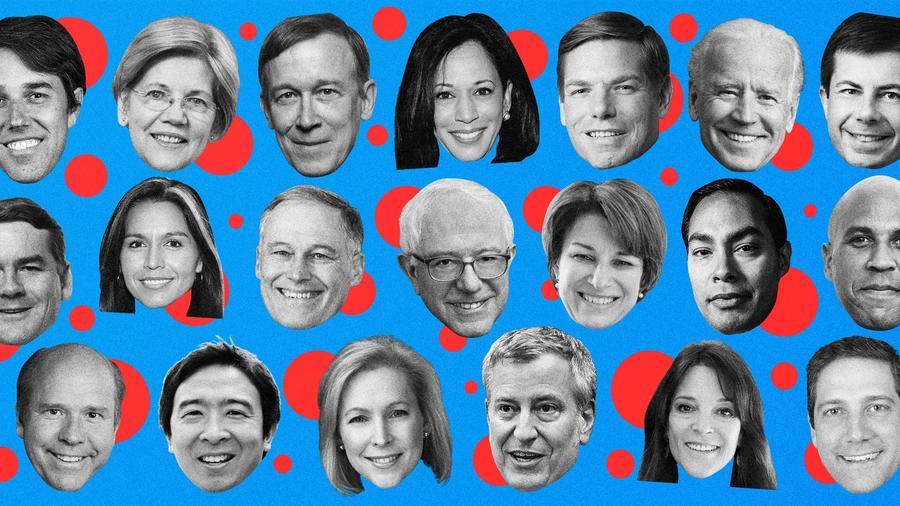 Candidatos demócratas en debate presidencial