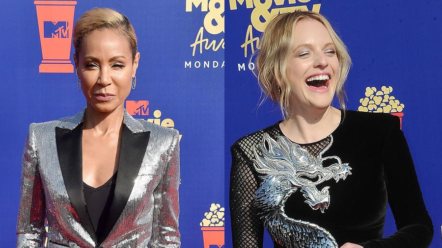 Jada Pinkett Smith y Elisabeth Moss en los MTV Movie & TV Awards 2019
