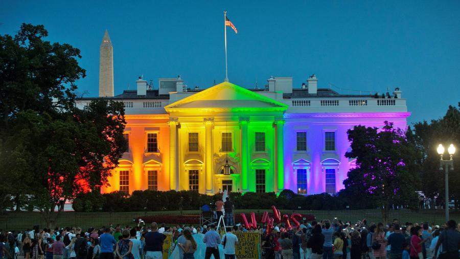 Imagen de archivo de la celebración en la Casa Blanca luego de que la Corte Suprema legalizara el matrimonio entre personas del mismo sexo en 2015