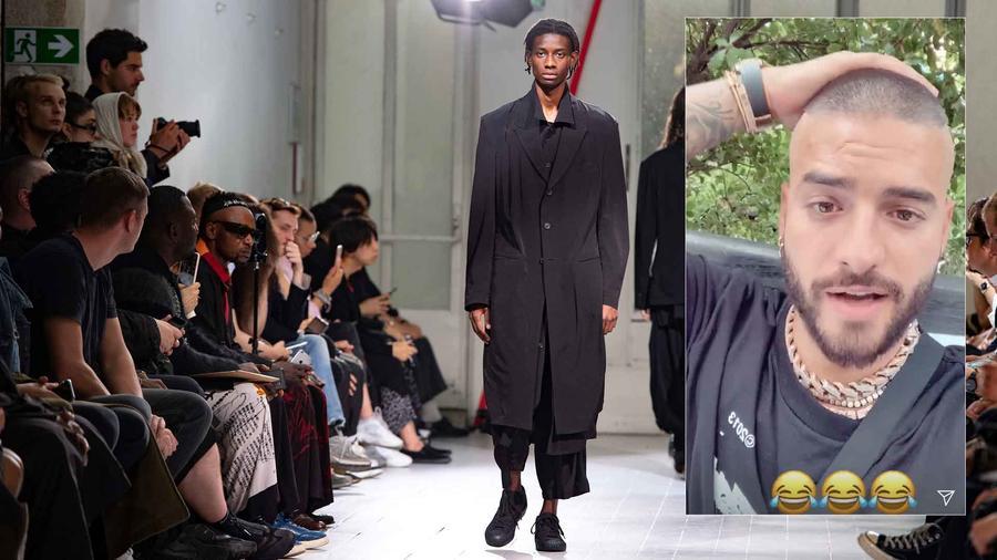 Maluma en la semana de la moda en París
