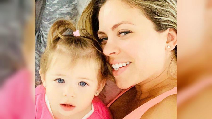 Ximena Duque y su bebé Luna