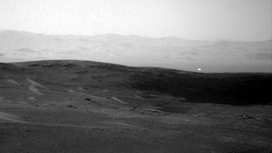 Luz extraña en Marte captada por NASA