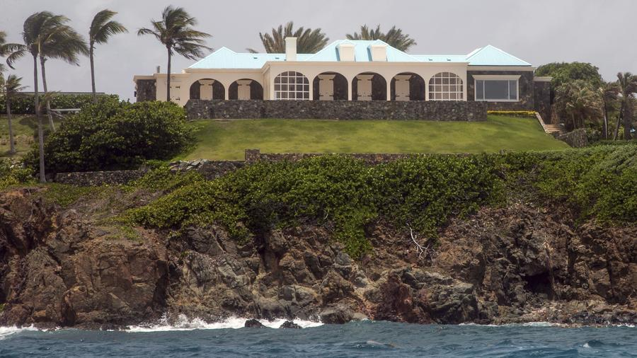 Fotografía de la mansión de Jeffrey Epstein en Little St. James, en las Islas Vírgenes de Estados Unidos