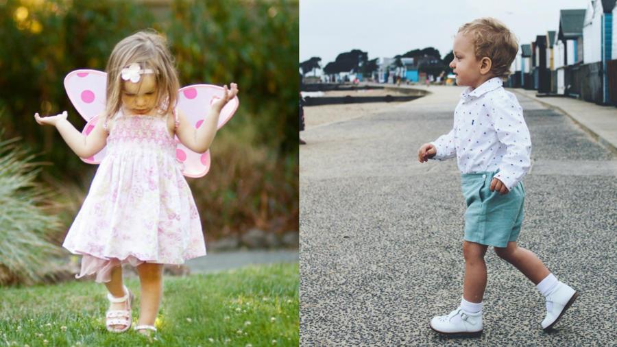 Niños caminando