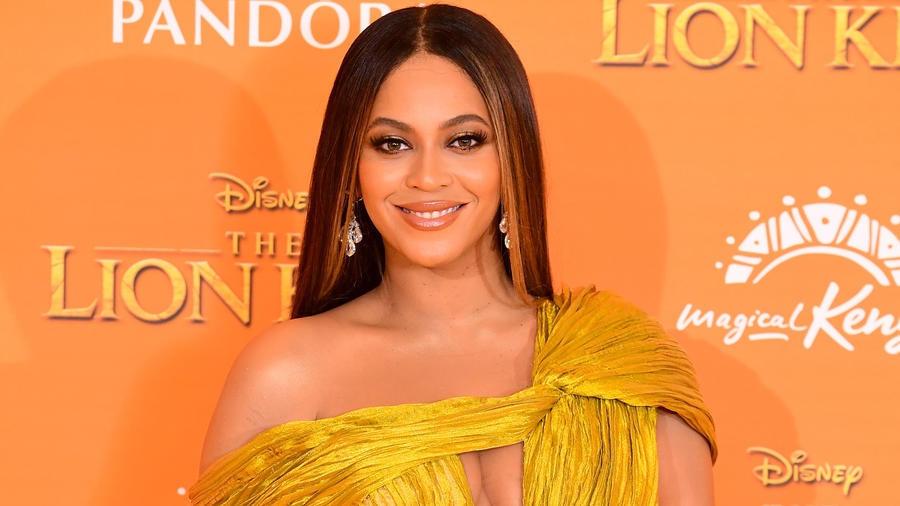Beyoncé en la premier de Disney's The Lion King en julio de 2019