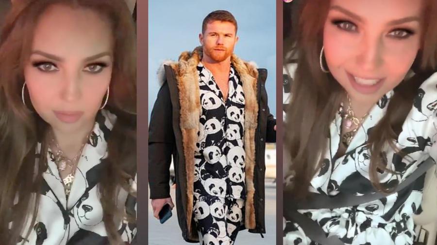 Thalía y Canelo visten pijama de osos