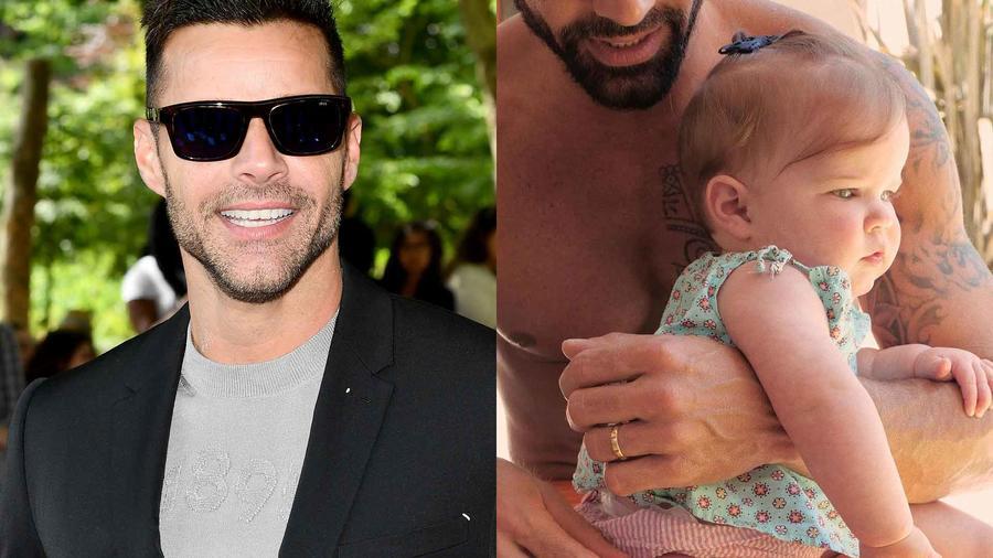 Ricky Martin con su hija Lucía