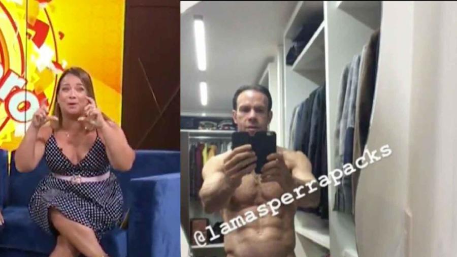 La reacción de Adamari López ante la foto de Zague desnudo