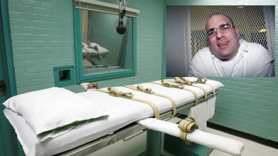 Foto de archivo del recluso de Larry Swearingen en el corredor de la muerte de Texas.