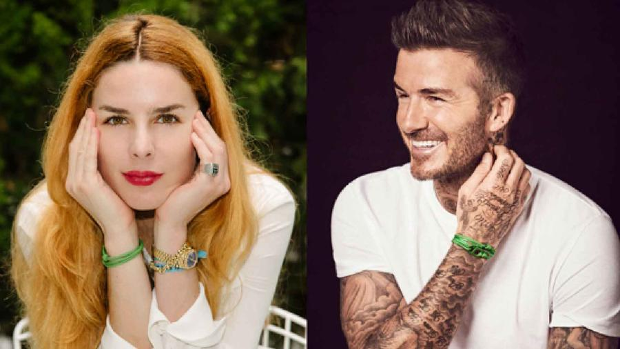 Elegantina Zingg y David Beckham