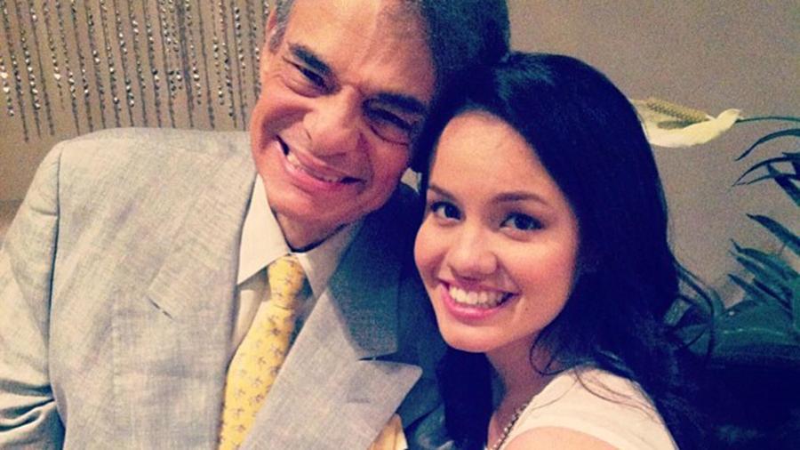 José José  y su hija Sarita Sosa Salazar