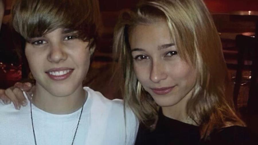 Justin Bieber y Hailey Baldwin de jovenes