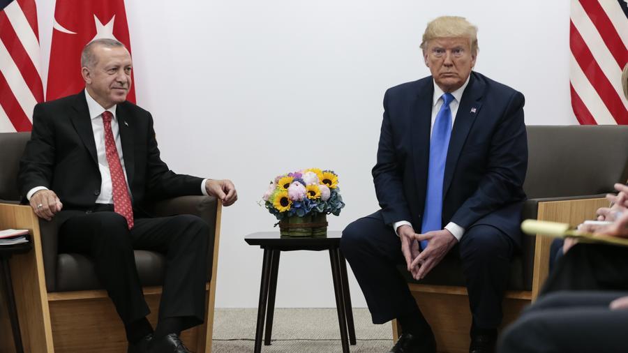 El presidente Donald Trump con su homólogo de Turquía, Recep Tayyip Erdogan