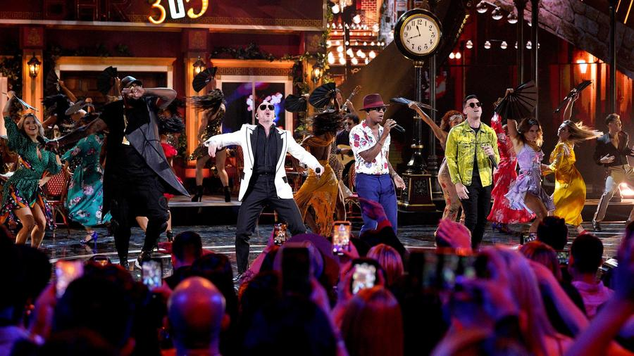 Pitbull Ne-Yo and Lenier en los Latin American Music Awards