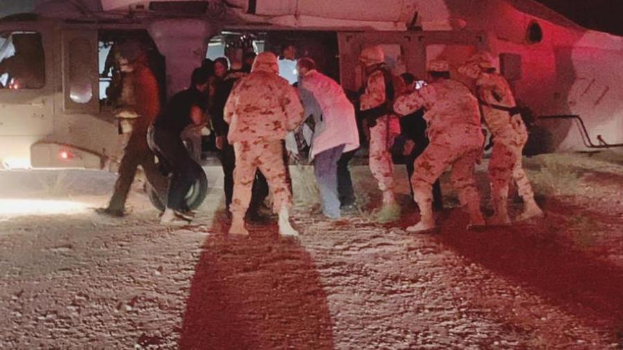 Niños Lebaron son trasladados en helicóptero desde Chihuahua a la frontera