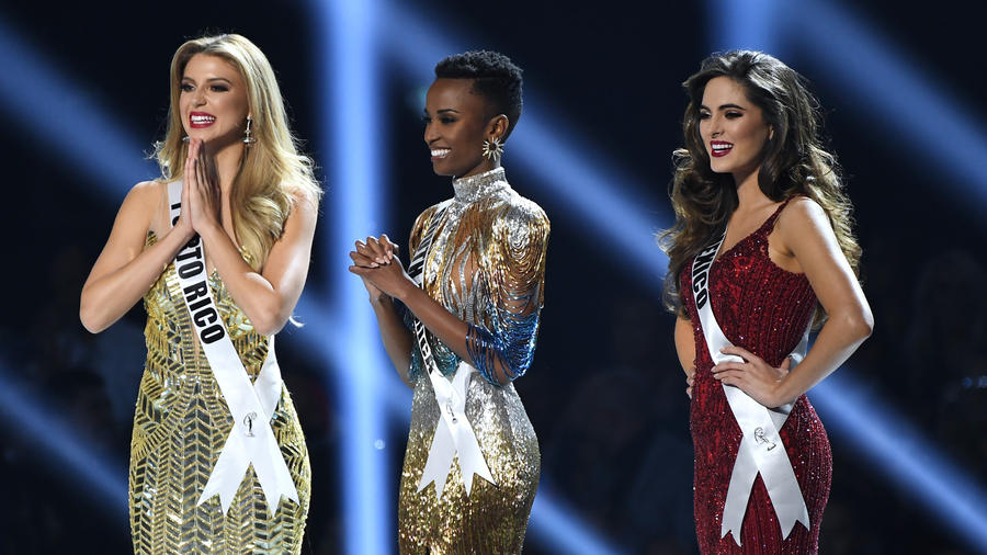Miss Sudáfrica, Miss México y Miss Puerto Rico