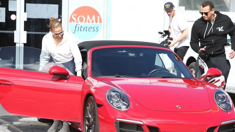 Jennifer Lopez y Alex Rodriguez en Miami