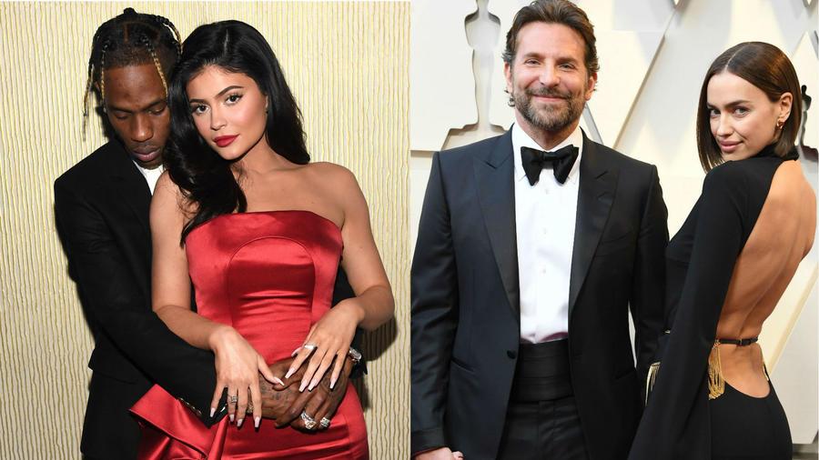 Kylie Jenner, Travis Scott, Bradley Cooper e Irina Shayk