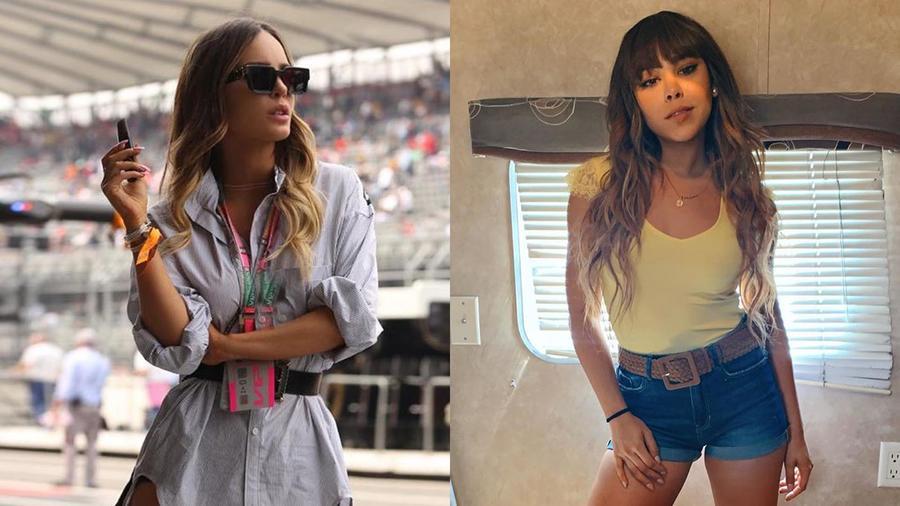 Danna Paola y Belinda Posando
