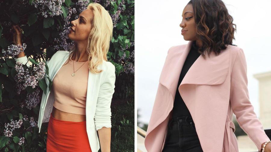 Mujeres usando blazer