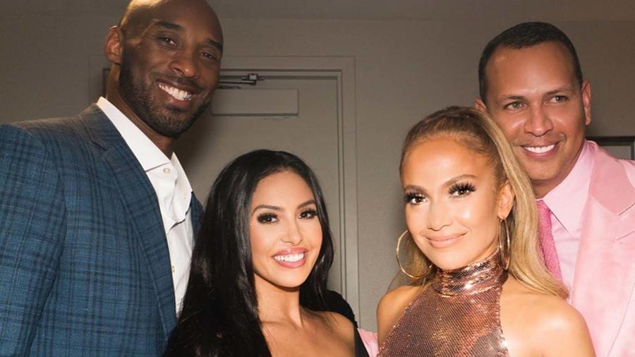 Jennifer Lopez ARod y kobe bryant