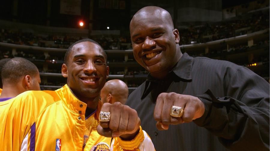 Shaquille O'Neal y Kobe Bryant 2002