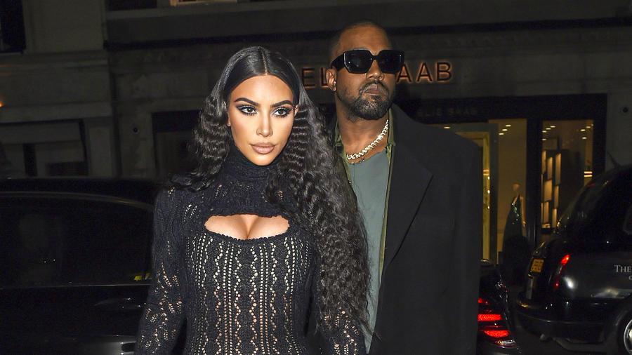 Kim Kardashian con Kanye West en Londres