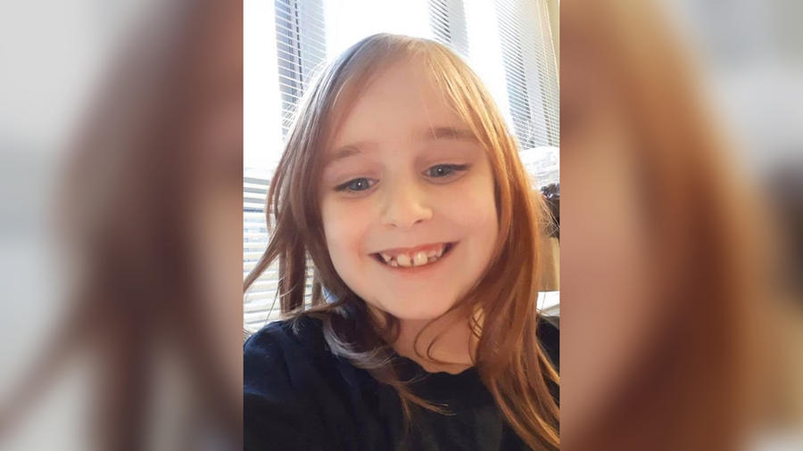 Faye Marie Swetlik, de 6 años, desaparecida este lunes.