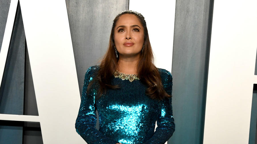 Salma Hayek en la Vanity Fair Oscars after-party de 2020