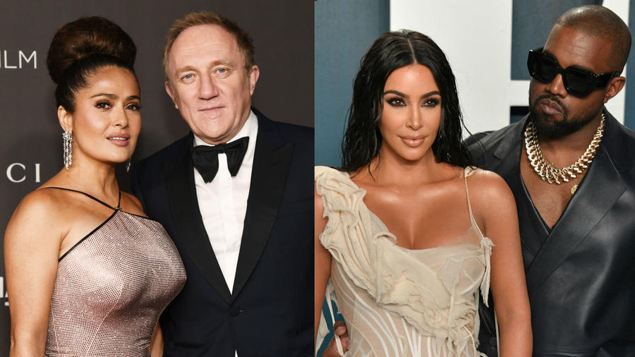 Salma Hayek y Francois Pinault, Kim Kardashian y Kanye West