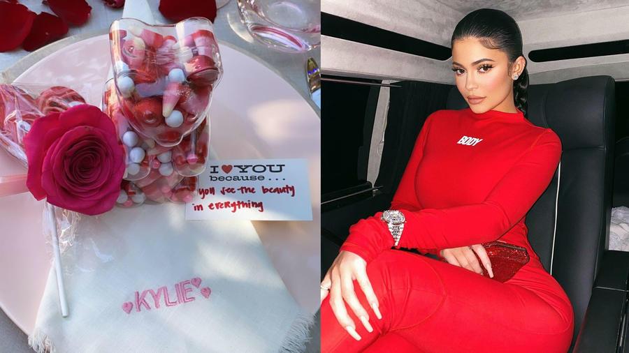 Kylie Jenner celebra San Valentín