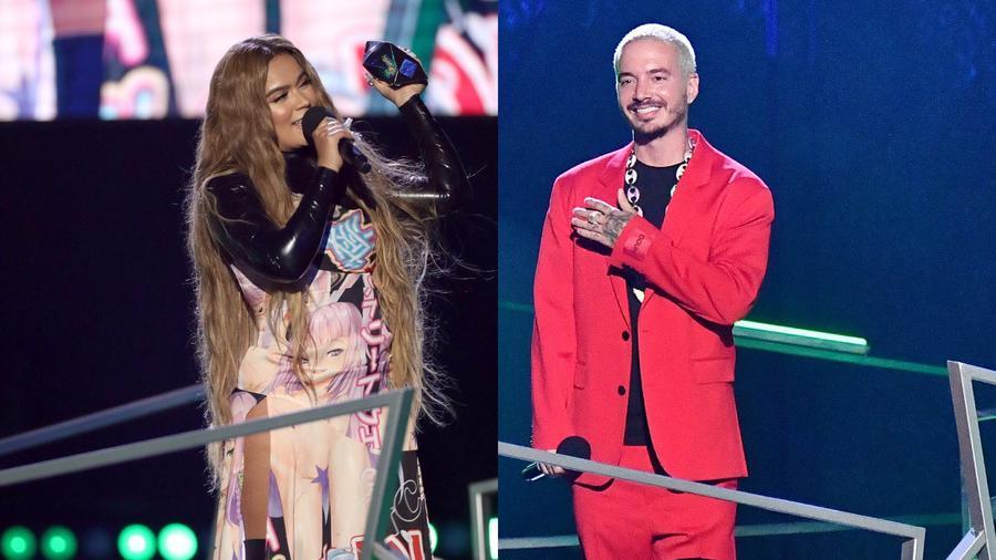 Karol G y J Balvin en los Spotify Awards 2020