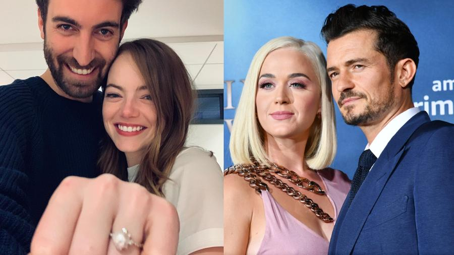 Emma Stone,  Dave McCary, Katy Perry, Orlando Bloom