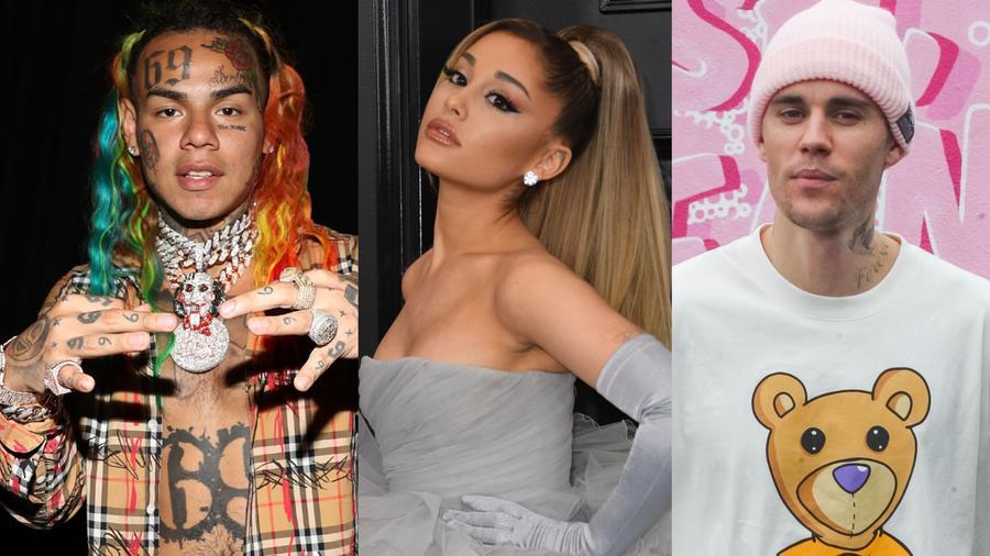 Ariana Grande, Tekashi 6ix9ine, Justin Bieber