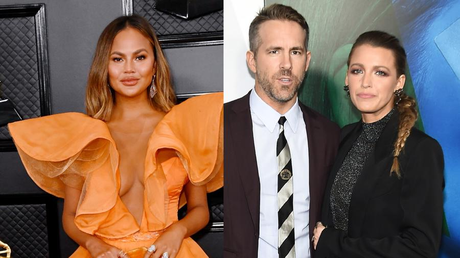 Chrissy Teigen, Ryan Reynolds, Blake Lively